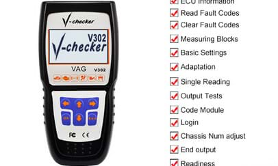 Multilanguage V-Checker V302 VAG PRO Code Reader for Car Diagnostic Tools