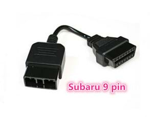 China Manufacturer Custom Subaru 9 Pin to 16 Pin OBD OBD2 Cable