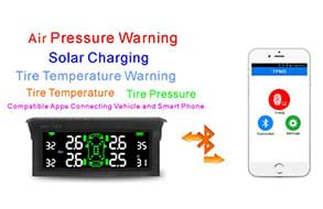 T501 TPMS Tire Pressure Monitoring System, Solar Car Wireless Tmps Tyre Pressure Monitoring System